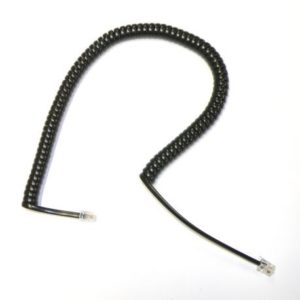 Cordon Etiro noir 3m avec méplat 11 cm