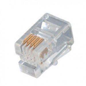 Lot de 100 Plugs RJ9 (4P/4C)