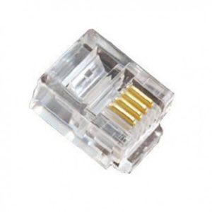Lot de 100 Plugs RJ11 (6P/4C)